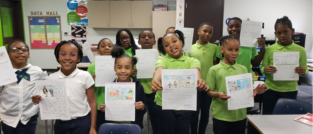 Detroit Students Partner with Operation Gratitude to Send Letters to Previous and Current Military Members