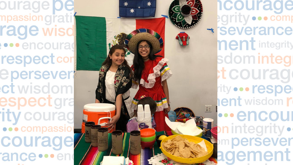 Students dressed in cultural garb