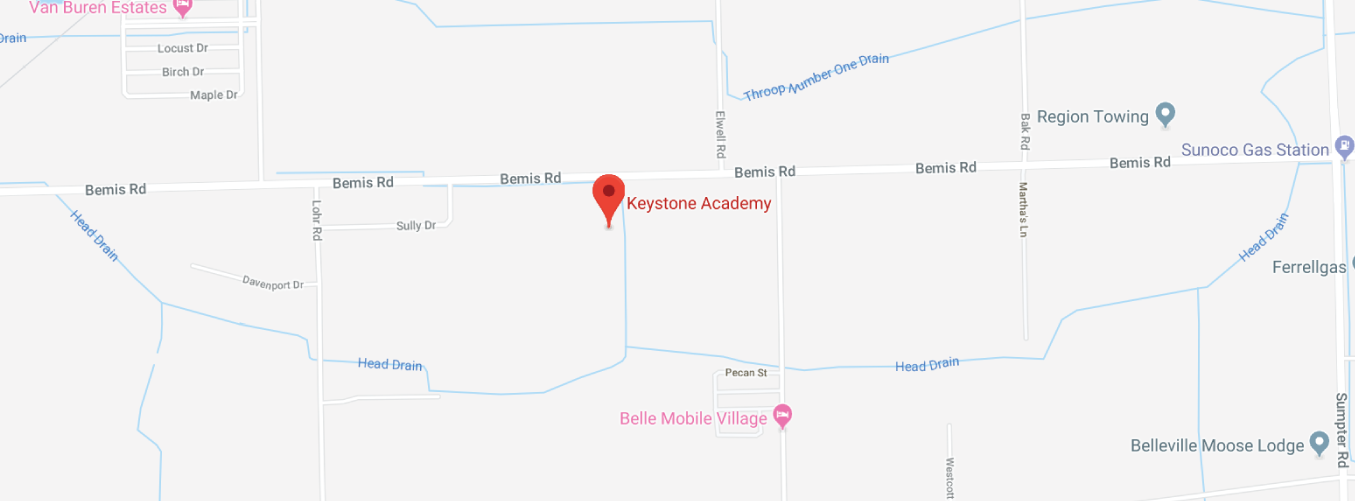 Map to Keystone Academy