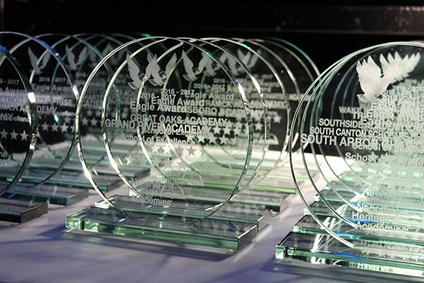 Eagle Award trophies