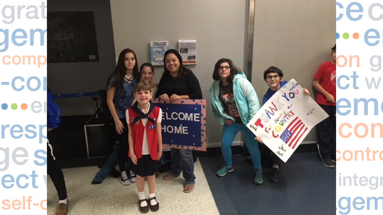 Spotlight: Cougars Welcome Military Home
