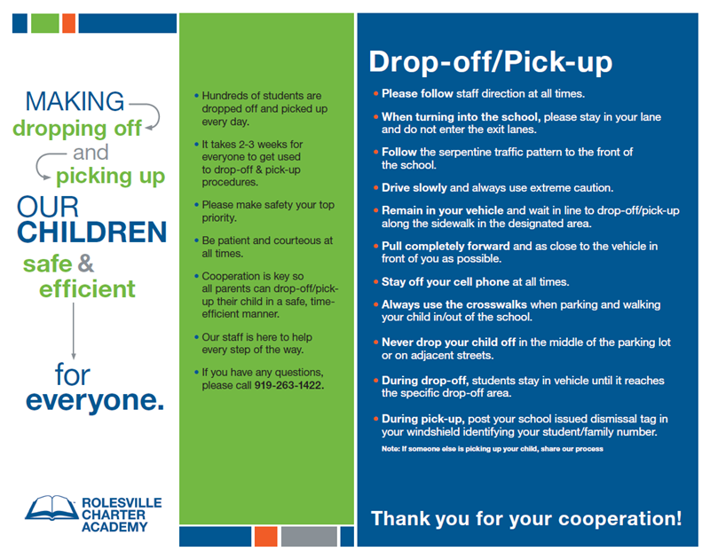 Drop Off/Pick Up Instructions