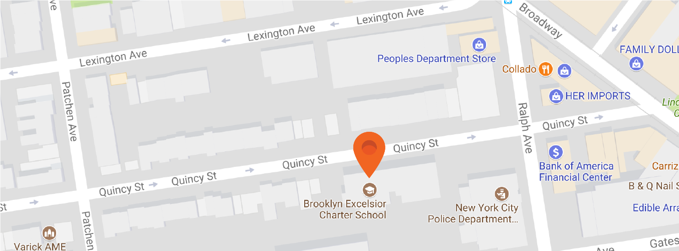 Map to Brooklyn Excelsior