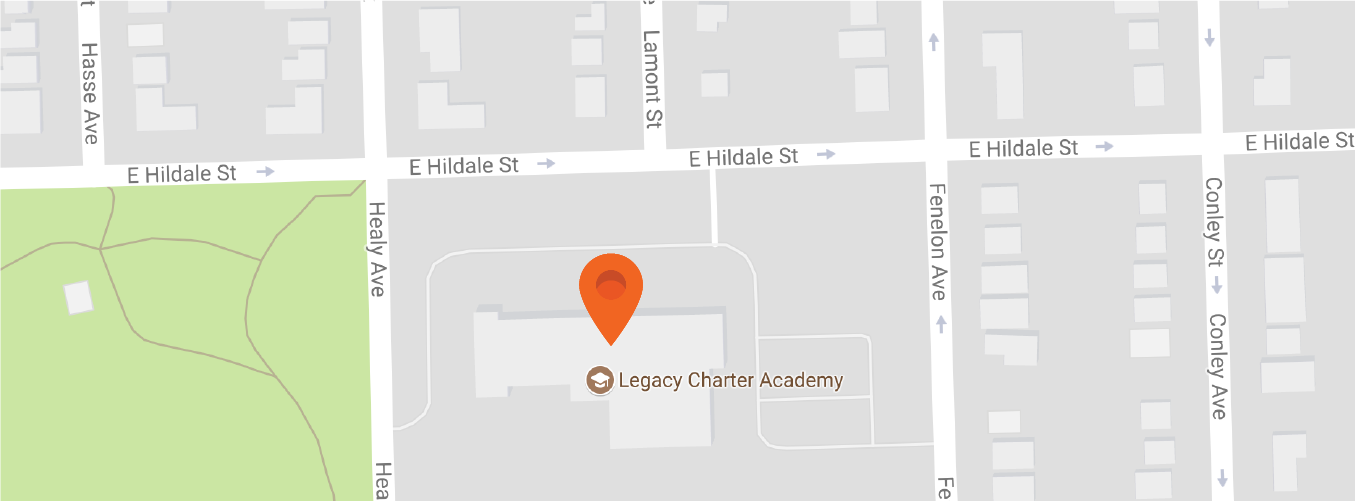 Map to Legacy Charter Academy