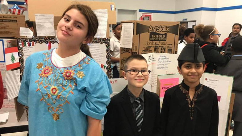 Student Presents Social Studies Showcase