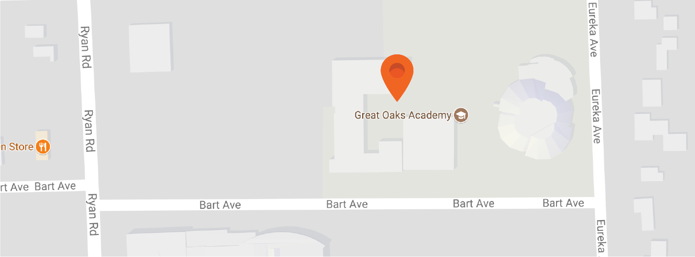 Map to Great Oaks Academy