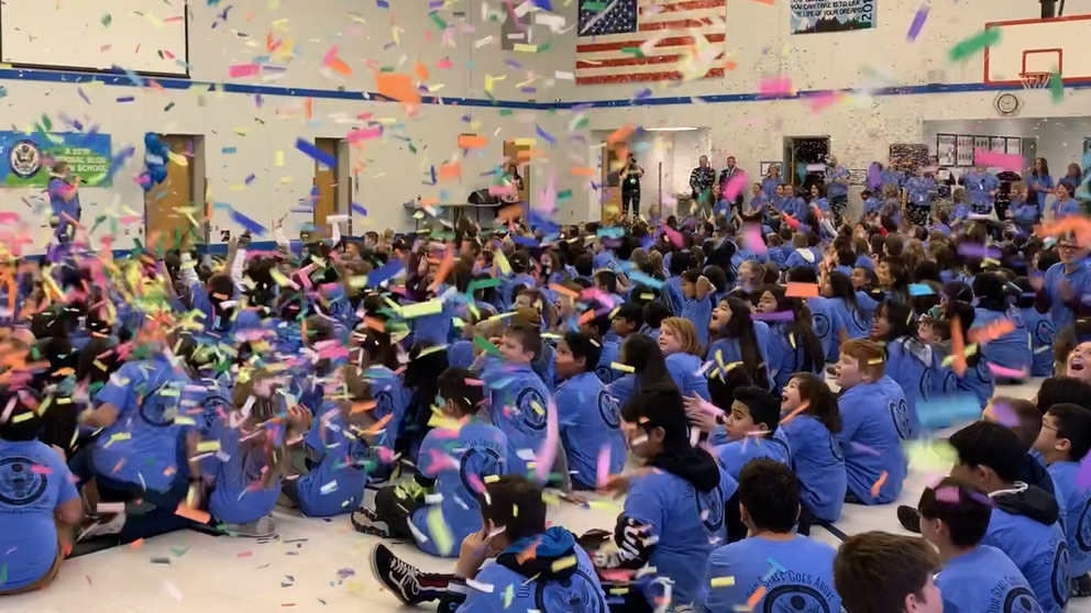 West Michigan Students Celebrate 2019 National Blue Ribbon School Designation During Assembly