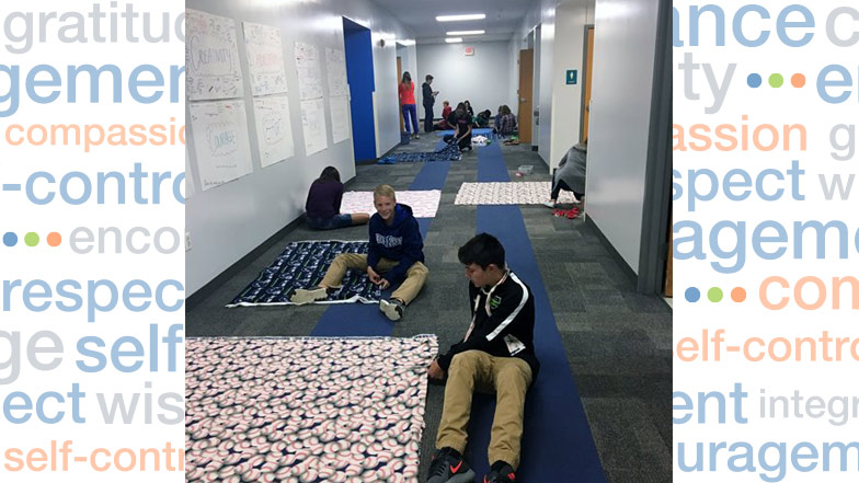 Spotlight: Students Make Blankets