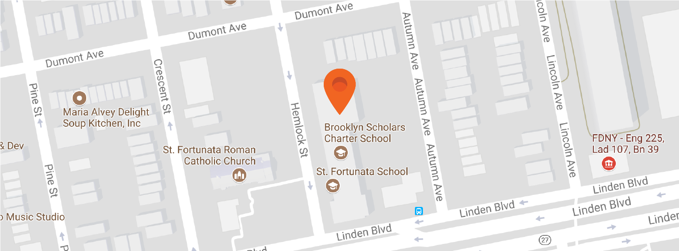 Map to Brooklyn Scholars